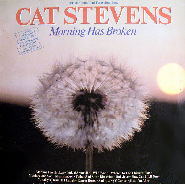 Morning Has Broken Youtube Cat Stevens