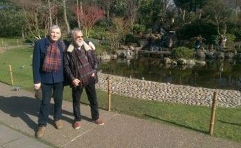 Kyoto gardens with Big brother David