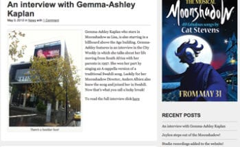 Moonshadow The Musical official Blog!