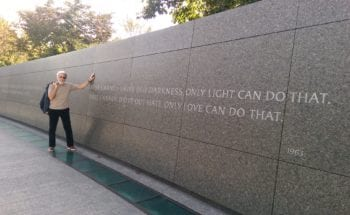At the Martin Luther King, Jr. Memorial