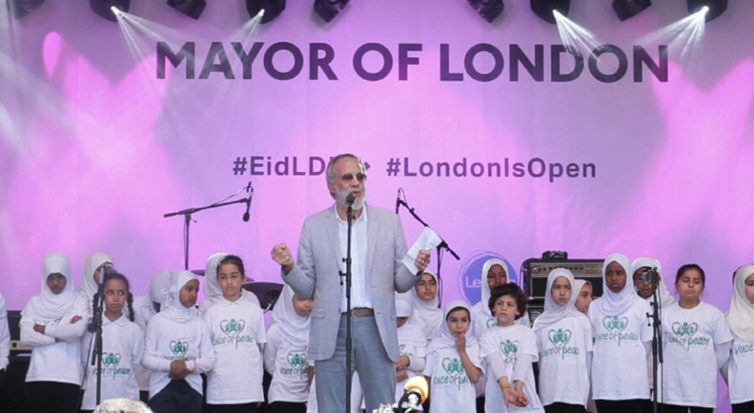 """God Bless London!"" Eid in the Square Festival"
